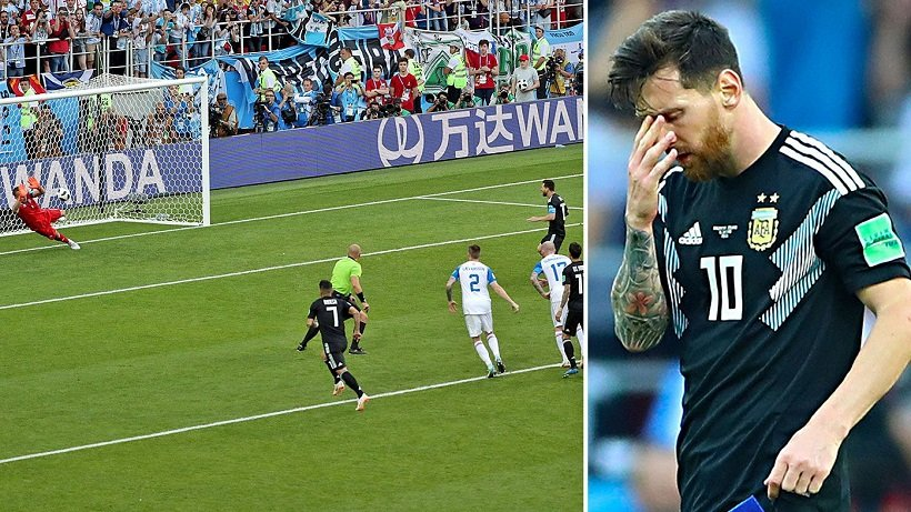 Messi missed penalty kick at the 2018 World Cup