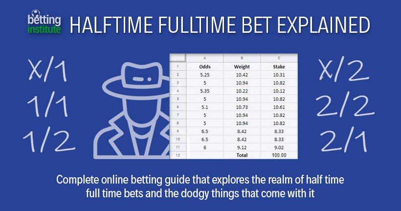 Half time full time betting stats for basketball bovado sports betting