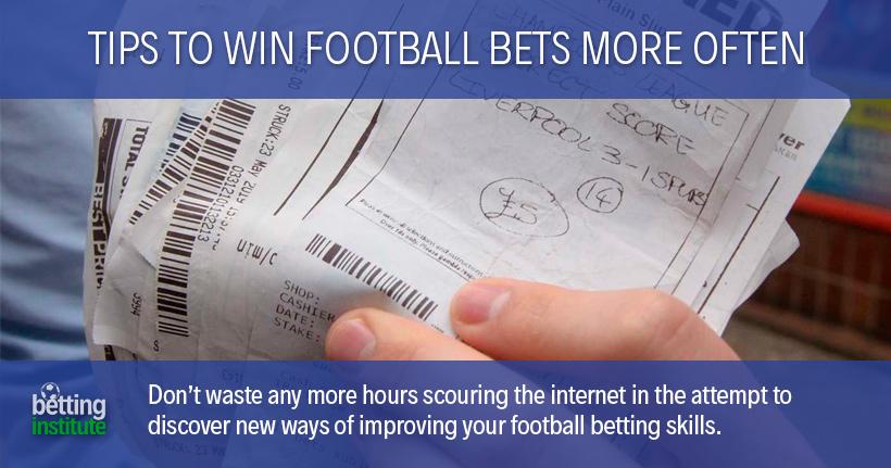 Conseils pour gagner plus souvent des paris sur le football